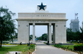Get discount flights to Freedom and Justice Arch in Accra