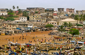 Get cheapest airfares to Beach and Market in Accra