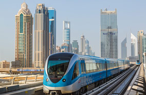 Get cheapest airfares to Metro railway in Dubai