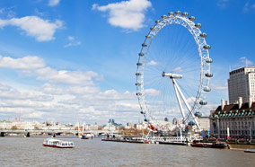 Get cheapest airfares to London eye ferry wheel in London