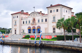 Find low fare tickets to Vizcaya Museum at waterfont in Miami