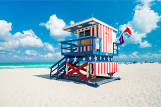 Miami Life Guard Tower in South Beach