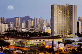 Get discount flights to Downtown Honolulu