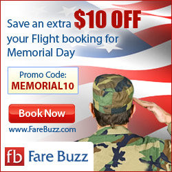 Exclusive Deals on Memorial Day. Book a Flight & Save $10