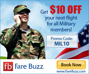 Fare Buzz Military Discount