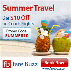 Travel all over this Summers with $10 off. Book Now. Promo Code: SUMMER10