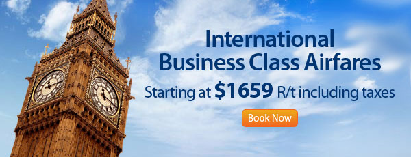 International Business Class Airfares