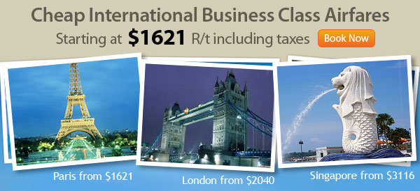 Cheap International Business Class Airfares