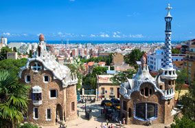Find low fare tickets to Park Guell in Barcelona