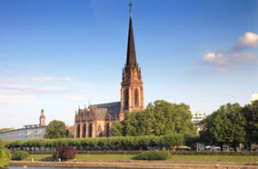 Get cheapest airfares to Evangelical church in Frankfurt