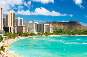 Get discount flights to Waikiki Beach in Honolulu