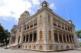 Find low fare tickets to Iolani palace in Honolulu