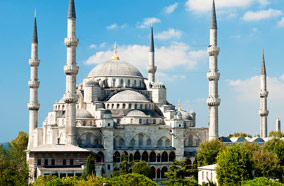 Get cheapest airfares to Blue Mosque in Istanbul