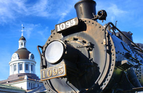 Get cheapest airfares to Canadian Pacific Railways historic locomotive in Kingston