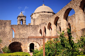 Get cheapest airfares to Brick Arches and gardens at Mission in San Juan