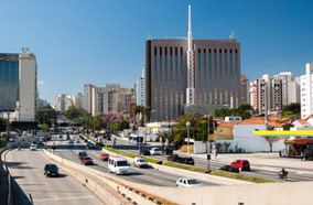 Get cheapest airfares to see Traffic avenue city Sao Paulo