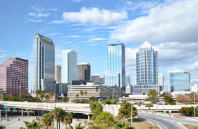 Get discount flights to downtown Tampa