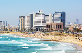 Get discount flights to Tel Aviv skyline