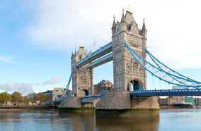 Get discount flights to Tower bridge in London