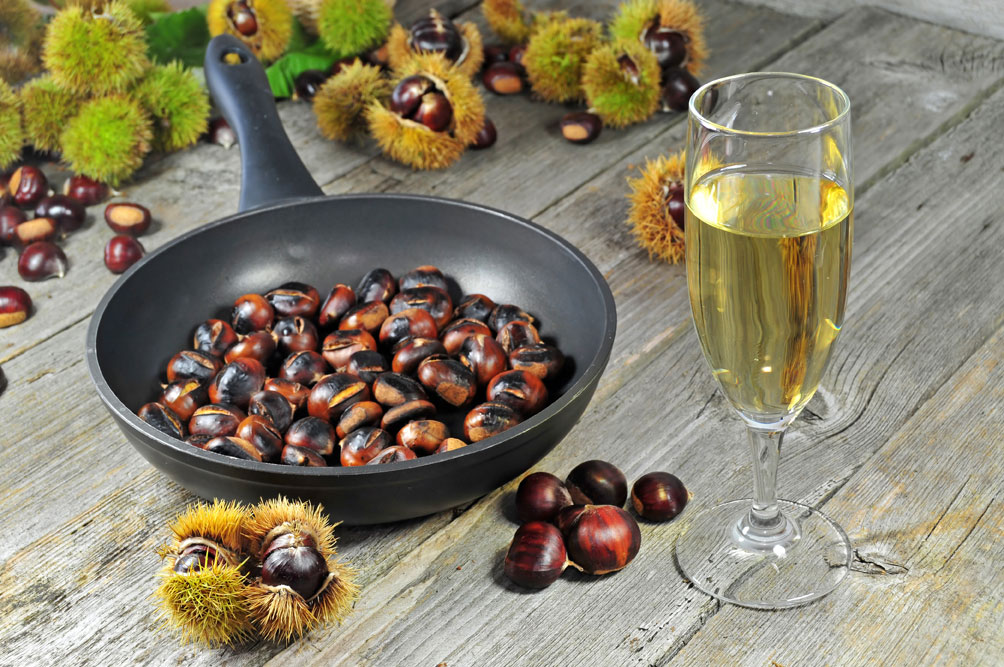 Hong Kong Food Roasted Chestnuts