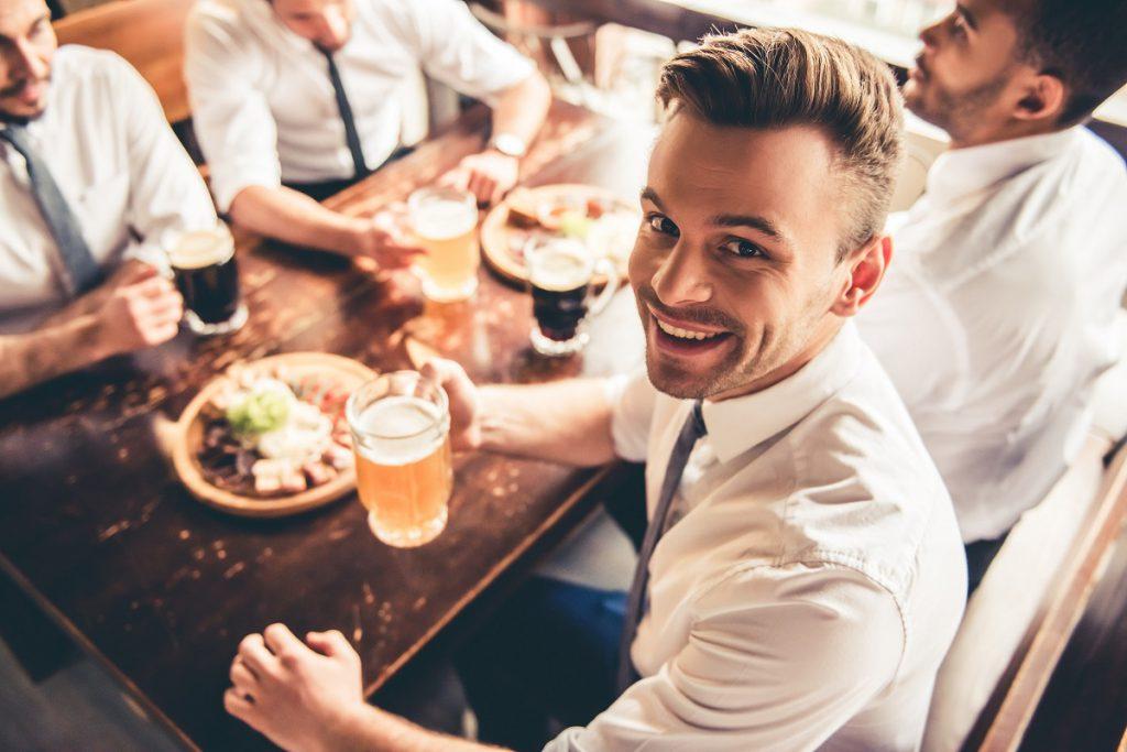 Friends in pub Fare Buzz